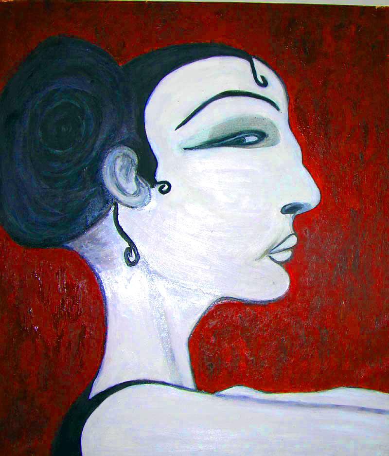Francesca Licari, Andalusa, olio su tela, cm 60x80, 2000