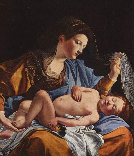 Orazio Gentileschi, Madonna con Bambino, 1610, olio su tela, cm 100X85Sotto: un'altra opera di Orazio Gentileschi