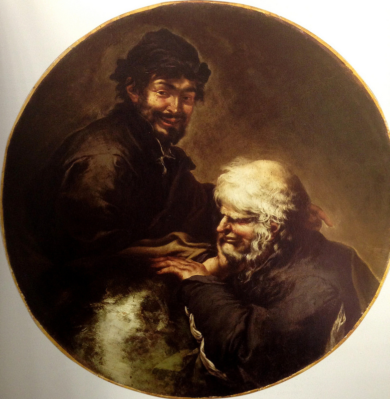 Eraclito and Democrito, early 1640′s. Kunsthistorisches Museum, Vienna.