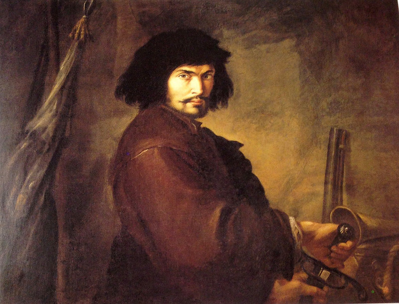 Selfportrait as a warrior, early 1640′s. Banca Monte dei Paschi di Siena.