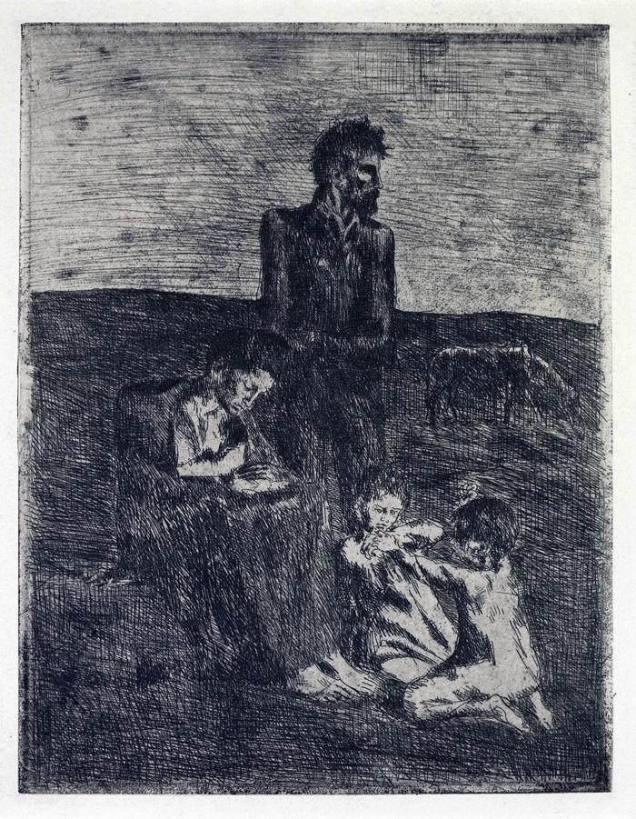 Les pauvres, 1905, acquaforte, mm 236x180