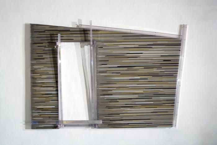 Loris Cecchini, The polychromesandsessions (#3, Hasena), 2010, Policarbonato protetto UV. sabbia silicea, pigmenti puri, Optical Lighting Film, Alluminio, 320 x 210h x 28 cm, Courtesy Galleria Continua