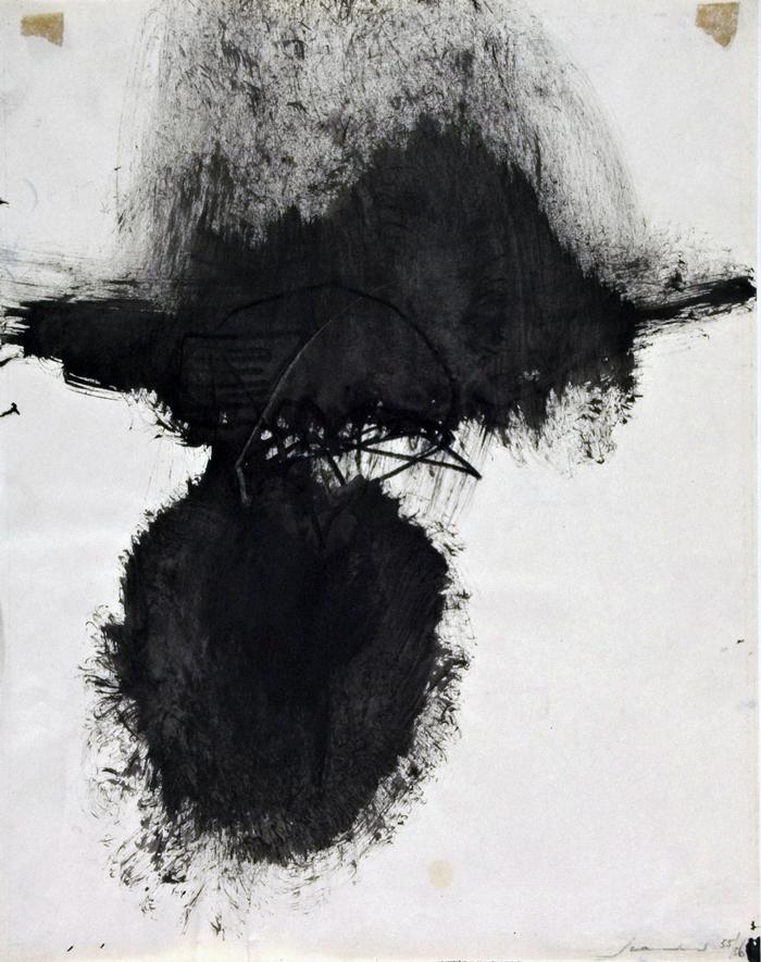 Emilio Scanavino, Senza titolo, 1955-1956 Inchiostro e pastello su carta © Emilio Scanavino, Raccolta del disegno, Galleria civica di Modena