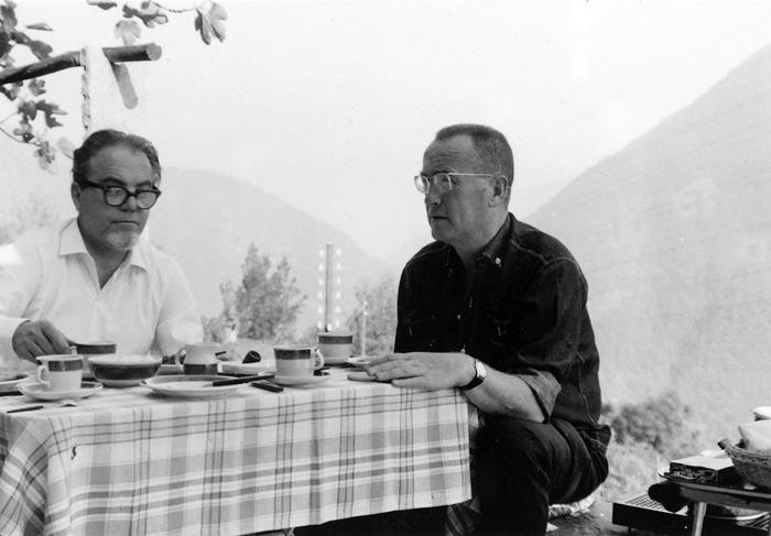 Max Frisch und Alfred Andersch in Berzona, 1963 © Annette Korolnik-Andersch, Carona