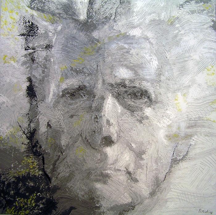 Tullio Pericoli, Carlo Caracciolo, 2008, olio su tela, cm 90x90