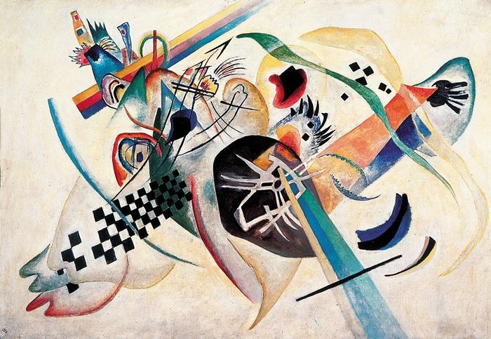 Wassily Kandinsky, Composizione su bianco, 1920 Museo Russo di Stato, San Pietroburgo © Wassily Kandinsky, by SIAE 2014