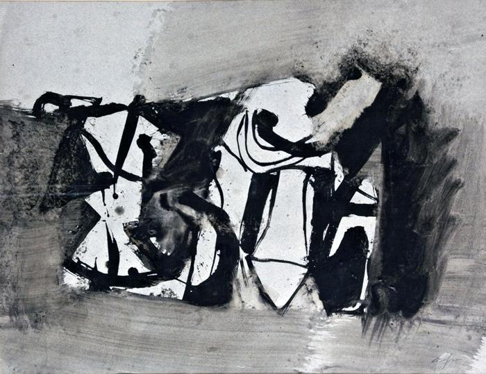 Afro, Senza titolo, 1958 ca. Tempera e china su carta © Afro Basaldella, Raccolta del disegno, Galleria civica di Modena