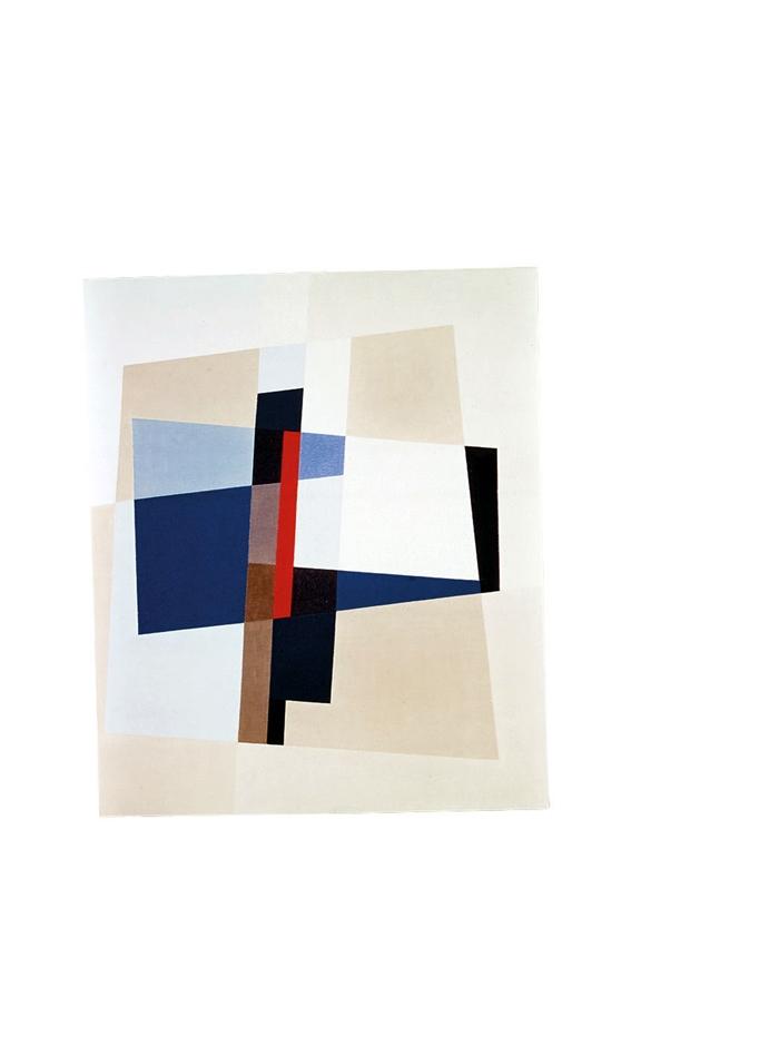 Gisela Andersch, AXE, Öl auf Leinwand, um 1973 (ca. 50x60 cm) © Annette Korolnik-Andersch, Carona