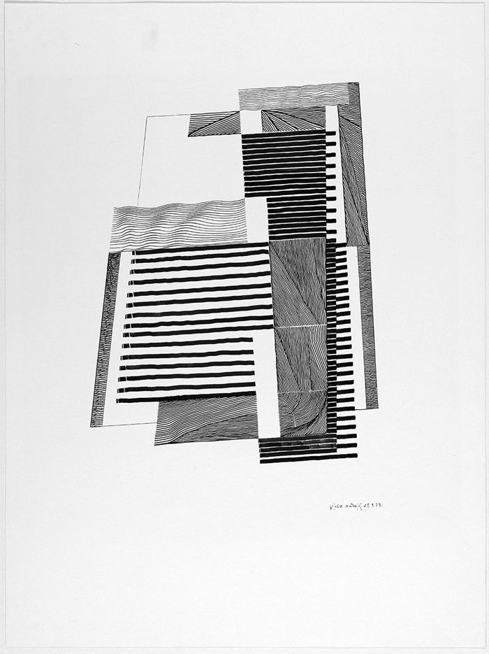 Gisela Andersch, Perfuga 1, Lithografie (49 x 654 cm), 1973 © Annette Korolnik-Andersch, Carona