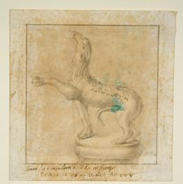 """Il Cane """"Calustla"""" (DER drawing 61.1) XVIII secolo Disegno, inchiostro e matita Norfolk, Holkham Hall"""