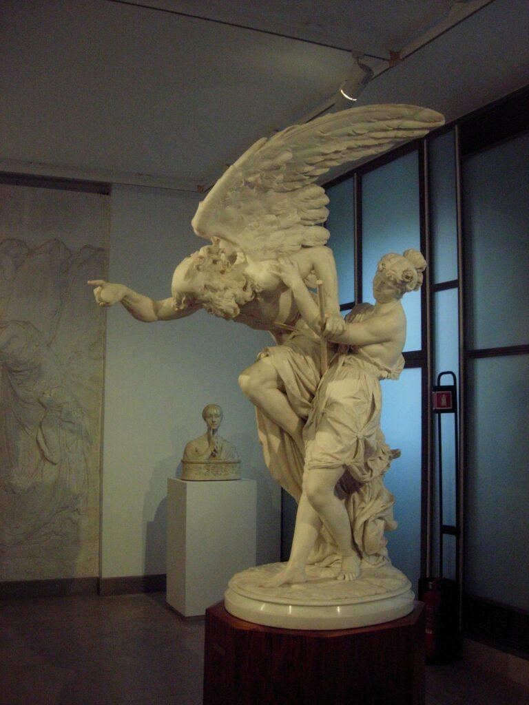 D.BARCAGLIA. La Gioventù che cerca di fermare il Tempo, 1875, mamo, h. cm 200 Trieste, Museo Revoltella