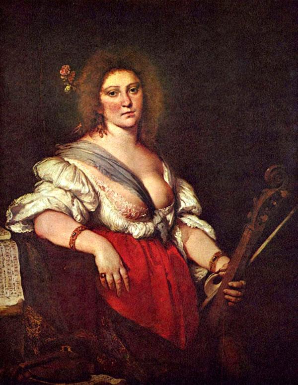 Bernardo Strozzi - Suonatrice di viola da gamba
