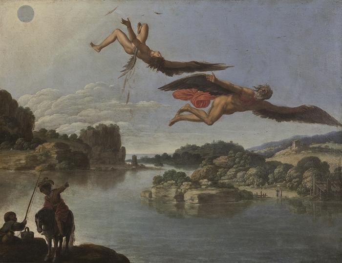 Carlo Saraceni (Venezia, 1579 circa-1620) Caduta di Icaro 1605-1608 circa olio su rame, cm. 40x52,5 Napoli, Museo Nazionale di Capodimonte