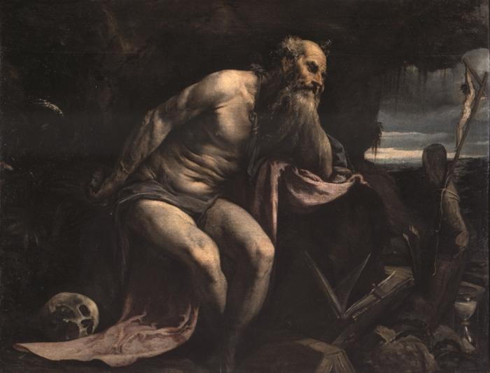 Jacopo Bassano (Bassano 1517 - 1592) San Girolamo olio su tela, cm. 119 x 154 Venezia, Gallerie dell'Accademia