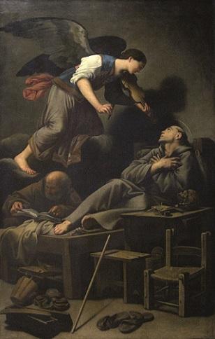 Carlo Saraceni (Venezia, 1579 circa-1620) Estasi di San Francesco olio su tela, cm. 181x115 Venezia, Chiesa del Redentore