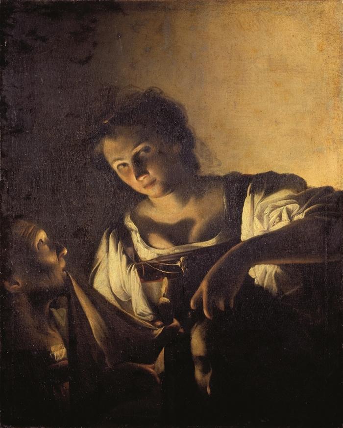 Carlo Saraceni (Venezia, 1579 circa- 1620) Giuditta con la testa di Oloferne 1618 olio su tela, cm. 95,8x77,3 Firenze, Fondazione di Studi di Storia dell'Arte Roberto Longhi