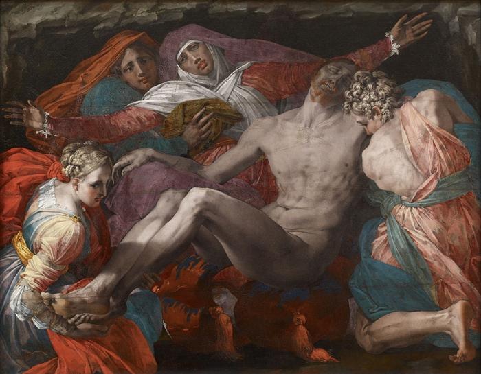 Rosso Fiorentino (Giovan Battista di Jacopo) (Firenze 1494-Fontainebleau 1540) Pietà  1538-1540 circa olio su tela trasportata da tavola cm 127 x 163 Parigi, Musée du Louvre - département des Peintures, entré au Louvre en 1798, inv. 594