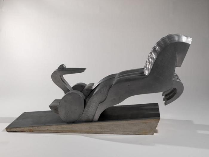 Ruggero Alfredo Michahelles: La Quadriga, 1929, fusione in alluminio, cm 70x130x41