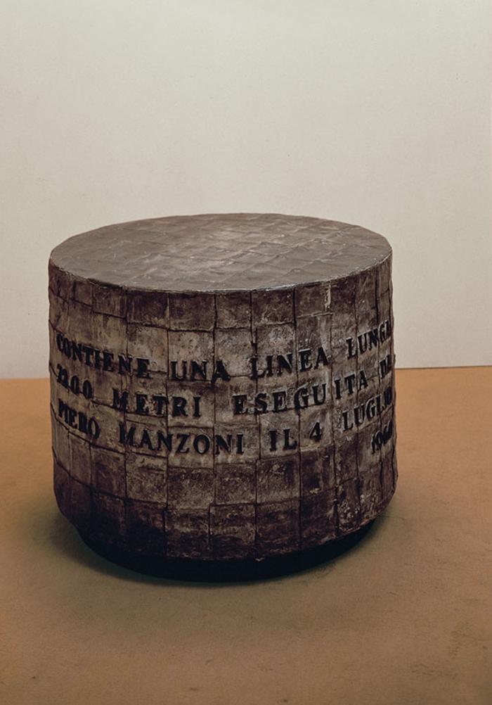 Linea m 7200, 1960 inchiostro su carta, cilindro di zinco ricoperto da fogli di piombo; 96x66 cm Heart, Herning Museum of Contemporary Art