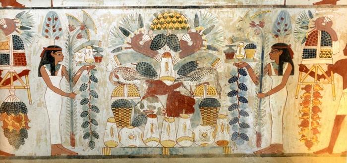 Tomba di Nakht, Parete sud, TT52_Necropoli tebana di Sheikh Abd el-Qurna XVIII dinastia Foto Michele Alquati