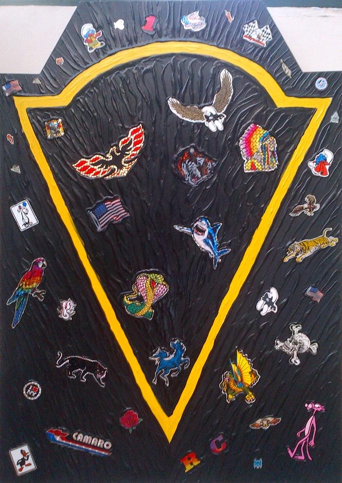 Ronnie Cutrone, Black, 1984, tecnica mista, 42,5x61 cm