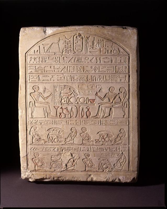 Stele di Senbi, Medio Regno, XII din.-Nuovo Regno, calcare, cm h. 41,5x32