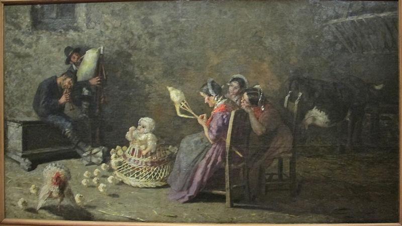 G.SEGANTINI, Zampognari di Brianza, 1883-85, olio su tela, Tokyo, National Museum of Western Art