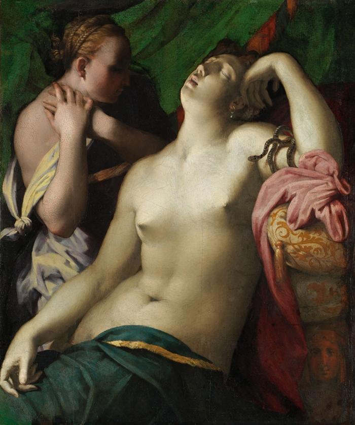 Rosso Fiorentino (Giovan Battista di Jacopo) (Firenze 1494-Fontainebleau 1540) Morte di Cleopatra  1525-1527 olio su tavola cm 88 x 75 (cm 108,5 x 91,2 x 10,2 con cornice) Braunschweig, Herzog Anton Ulrich-Museum, Kunstmuseum des Landes Niedersachsen, inv. GG 479