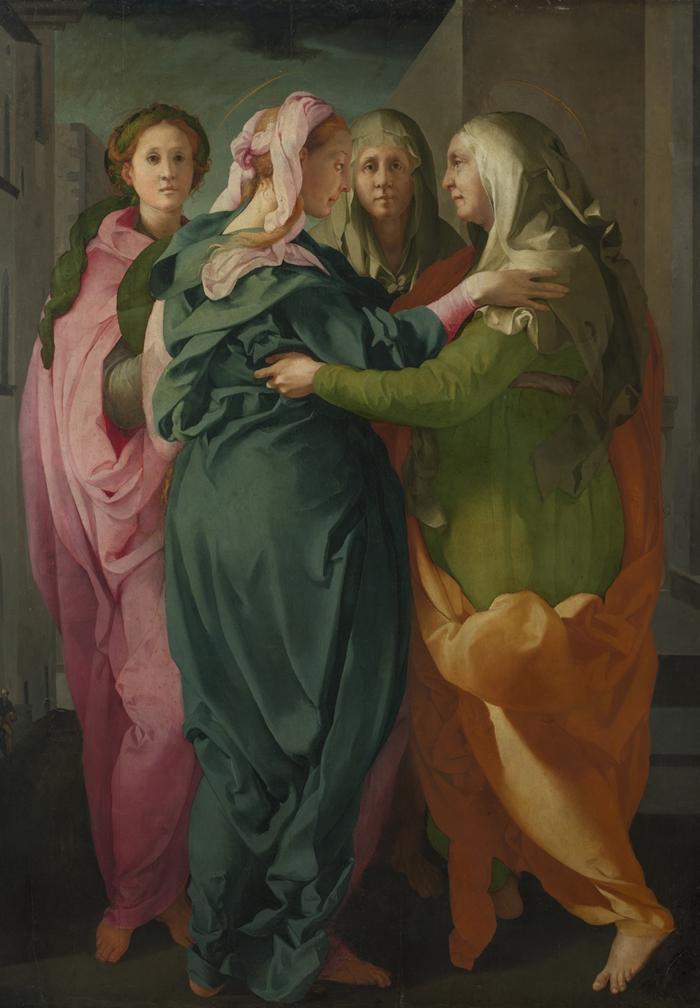 Pontormo (Jacopo Carucci) (Pontorme, Empoli 1494-Firenze 1557) Visitazione  1528-1529 circa olio su tavola cm 202 x 156 Carmignano, Pieve di San Michele Arcangelo