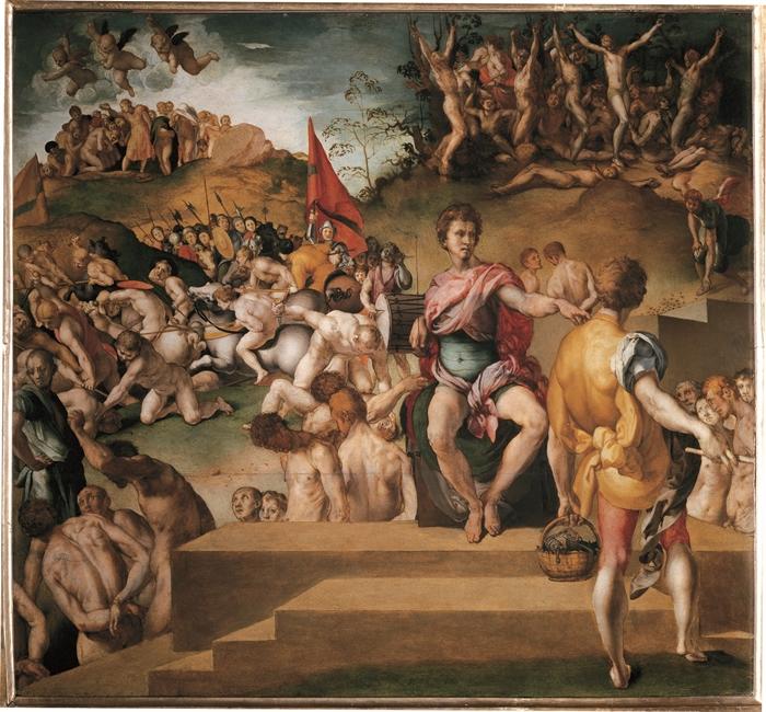 Pontormo (Jacopo Carucci) (Pontorme, Empoli 1494-Firenze 1557) I diecimila martiri  1529-1530 olio su tavola cm 65 x 73 Firenze, Palazzo Pitti, Galleria Palatina, inv. Pal. n. 182