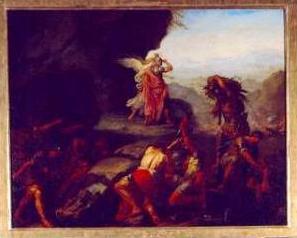 Paolo Borroni, Il genio della guerra guida Annibale attraverso le Alpi, cm 89x125