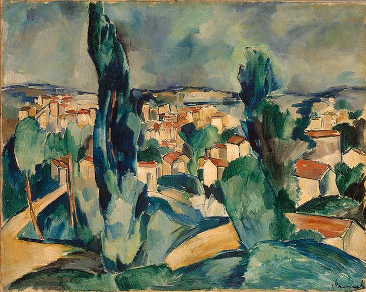 Un'opera di De Vlaminck che riprende strettamente la maniera di Cézanne
