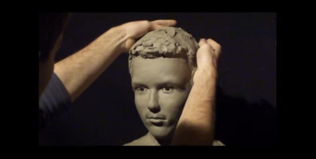 modellare un busto in creta
