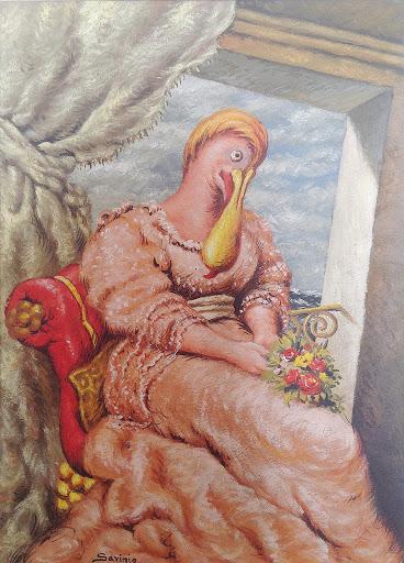 Alberto Savinio, Penelope  1940 circa, Tempera su cartone cm 34,5x25