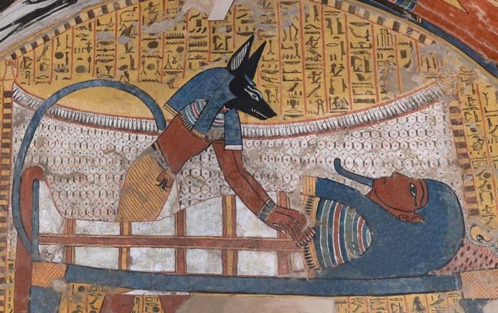Tomba TT290 di Irynefer, primi anni del regno di Ramses II (1279-1213 a.C.). In mostra la ricostruzione in scala reale