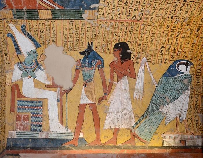 Tomba TT290 di Irynefer, primi anni del regno di Ramses II (1279-1213 a.C.). In mostra la ricostruzione in scala reale Foto Michele Alquati