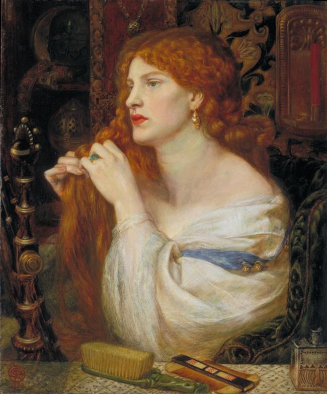 Dante Gabriel Rossetti (1828‐1882), Aurelia (L'amante di Fazio), 1863‐73 Olio su mogano, cm 43,2 x 36,8 Acquistato nel 1916 attraverso l'Art Fund con il sostegno di Sir Arthur Du Cross e di Sir Otto Beit - ©Tate, London 2014