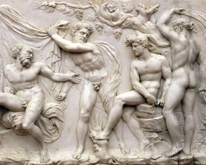 Baccio Bandinelli,  L'ebbrezza di Noè, (particolare), marmo, Firenze,  Museo Nazionale del Bargello