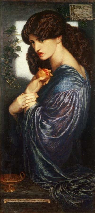 Dante Gabriel Rossetti (1828‐1882), Proserpina, 1874 Olio su tela, cm 125,1 x 61 Donato nel 1940 da W. Graham Robertson - ©Tate, London 2014