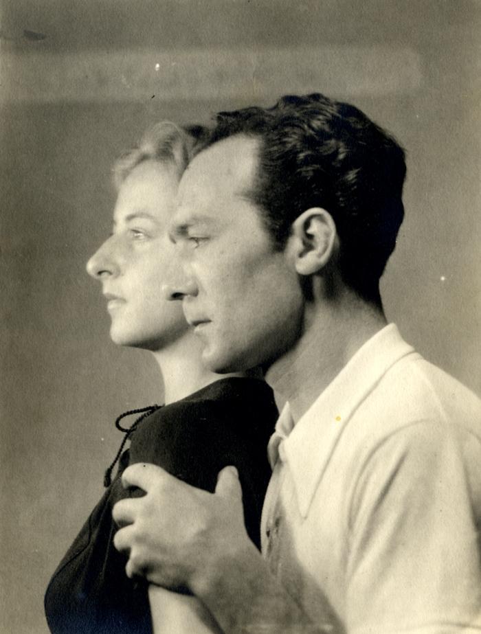 Giovanni Colacicchi con la moglie la pittrice Flavia Arlotta.