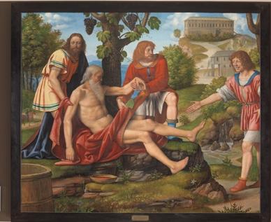 BernardinoLuini SchernodiCam 1514‐1515circa tavolatrasportatasutela,cm166x140 Milano,PinacotecadiBrera,Reg.Cron.374 SuconcessionedelMinisteroperiBenieleAttività CulturaliedelTurismo
