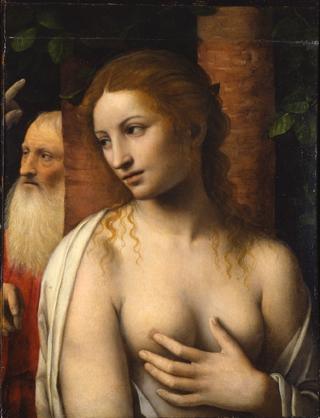 BernardinoLuini Susannaeivecchioni 1515‐1516circa tavola,cm46x38,5 IsolaBella,collezioneprivata