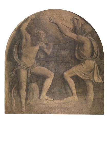 BernardinoLuini ErcoleeAtlante 1517‐1520circa affrescostrappatoetrasportatosutela,cm400x 385 Milano,Museod'ArteAnticadelCastello Sforzesco,Pinacoteca,inv.773