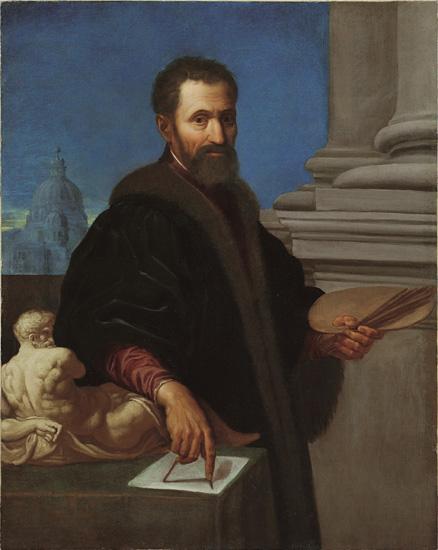 Domenico Cresti detto il Il Passignano (Passignano 1559 - Firenze 1638) Ritratto di Michelangelo Buonarroti Inizi del XVII secolo Olio su tela Bergamo, Enrico Lumina