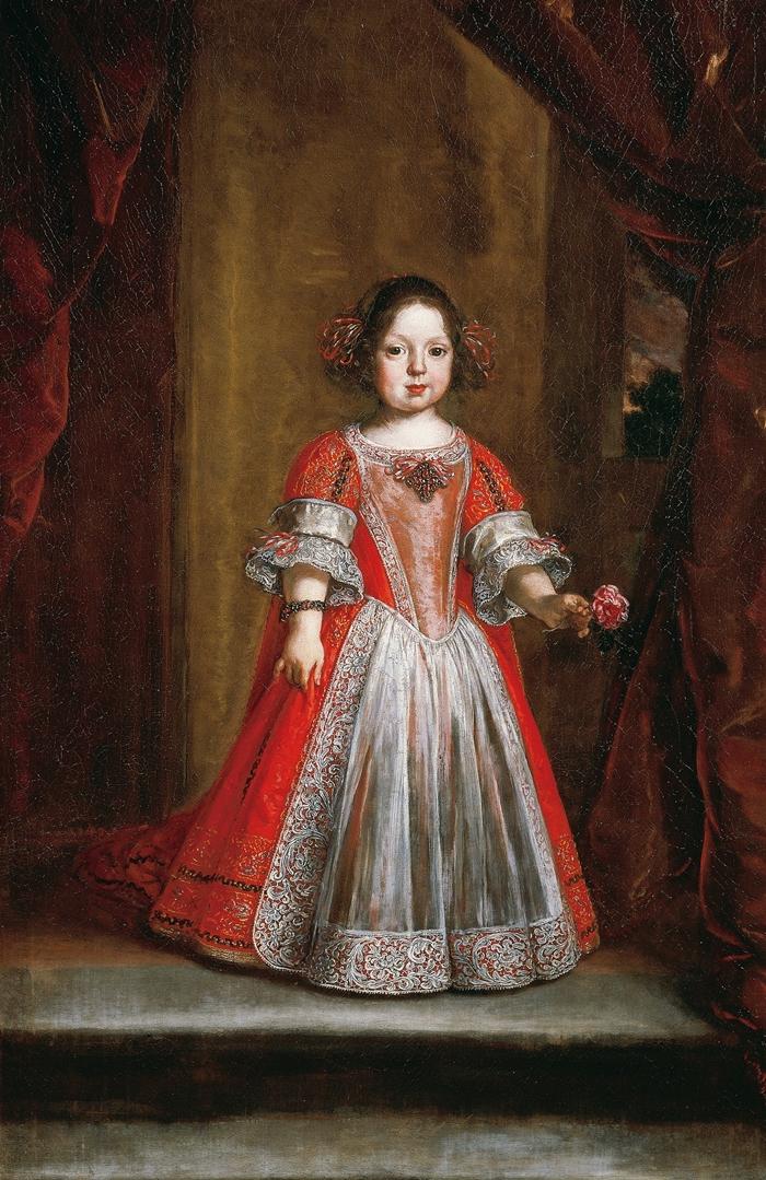 Giusto Suttermans (Anversa, 1597 - Firenze, 1681) Ritratto di Anna Maria Luisa de' Medici bambina 1670, olio su tela Firenze, Galleria degli Uffizi, depositi