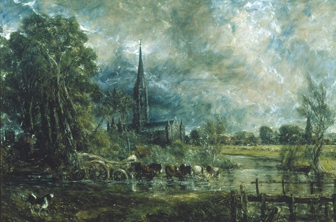 CONSTABLE - La cattedrale di Salisbury, 1829 - 1831, olio su tela, Guildhall Art Gallery, City of London