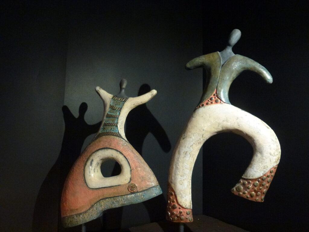 """Odo Camillo, Turrini-Linguaggi-musicali.-Serie-""""Linguaggi-musicali"""", 2010, tecnica Raku"""
