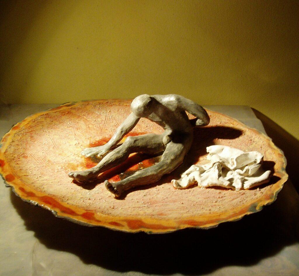 """Odo Camillo Turrini, Percorsi di solitudine 5, serie """"Percorsi di solitudine"""", 2003, ceramica tradizionale mista"""