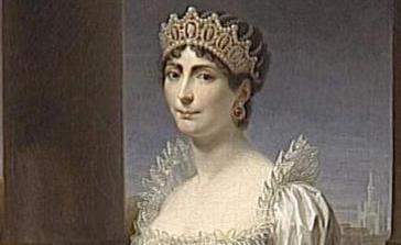 Particolare di un ritratto di Josephine Beauhrnais, realizzato da Andrea Apiani