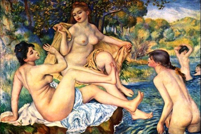 Le bagnanti è un dipinto a olio su tela di 110 × 60 cm realizzato tra il 1918 ed il 1919 dal pittore francese Pierre-Auguste Renoir. È conservato nel Musée d'Orsay di Parigi. La modella di questo dipinto è la Andrée Hessling, in seguito la prima moglie di Jean Renoir (figlio del pittore). Il tema della bagnante è predominante nell'ultima stagione pittorica di Renoir: le donne ritratte dal pittore sono libere e disinibite.